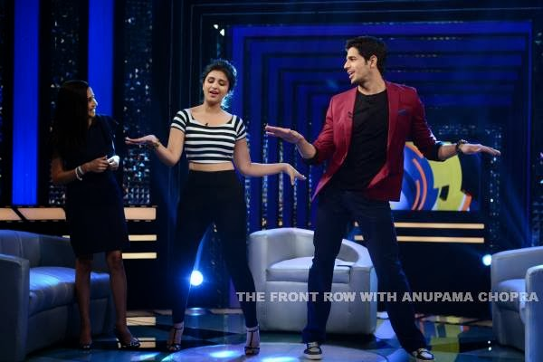 Parineeti and Sidharth at The Front Row With Anupama Chopra