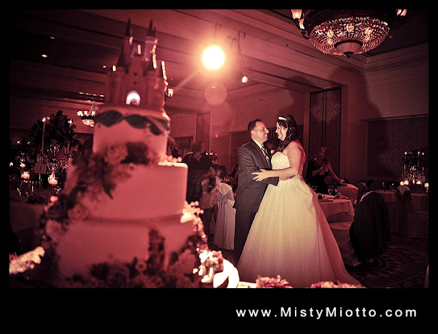 Walt Disney World wedding reception photo