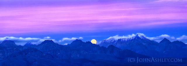 Harvest Moon in Glacier National Park (c) John Ashley