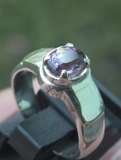 spinel silver ring
