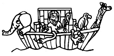 LDSFiles Clipart Noah And The Ark Coloring Page