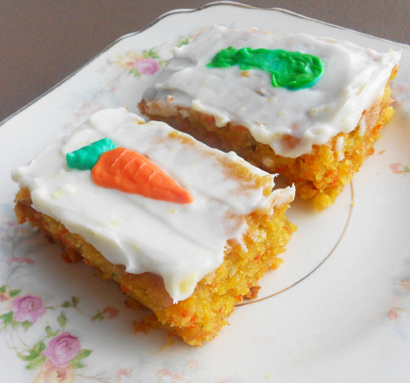 Popular Recipes and Cooking: Zucchini Carrot Bars with Lemon Cream ...
