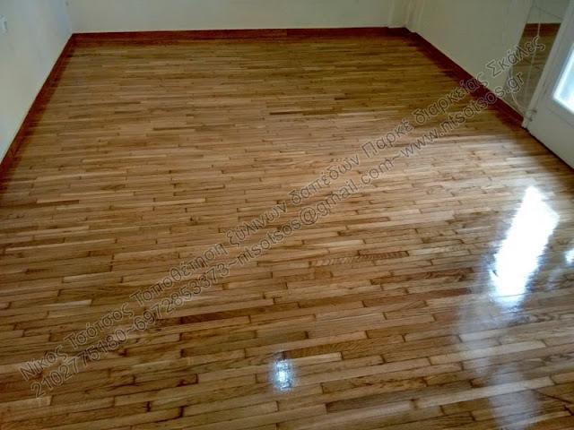 Επισκευή σε ξύλινο πάτωμα με σαράκι