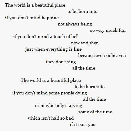 essay this world is a beautiful place to live in