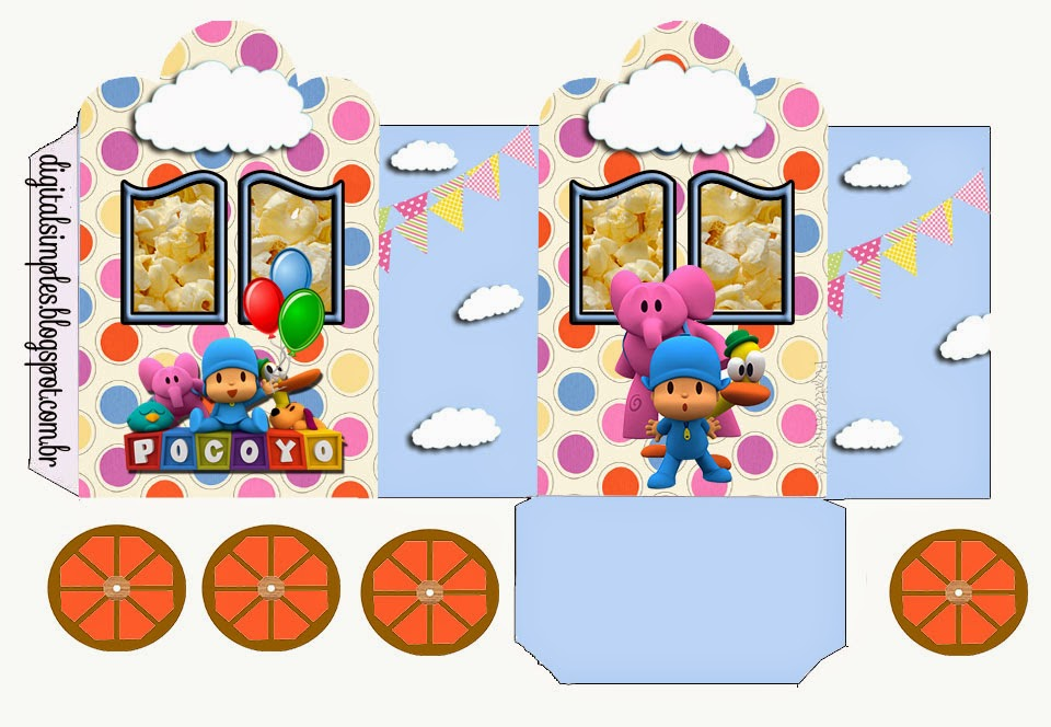 Pocoyo: Princess Carriage Shaped Free Printable Boxes.