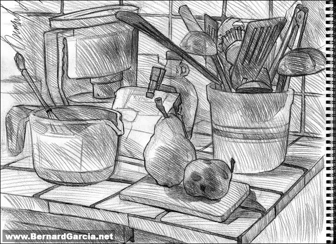 Magnificent Kitchen Still Life Drawing 688 x 500 · 133 kB · jpeg