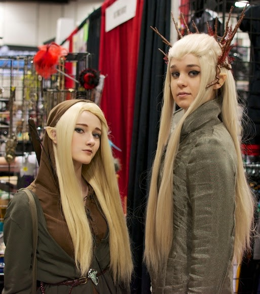 Tolkien Elves, Legolas and Thranduil, at Denver Comic Con, 2014