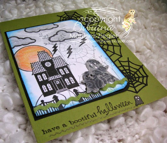 halloween card flat view