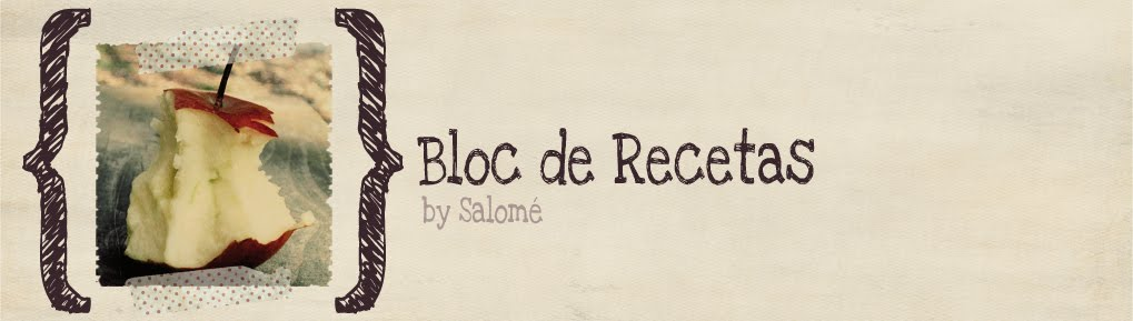 Bloc de recetas