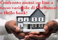 Mutui a tasso variabile on line a confronto: Hello bank! e CheBanca!