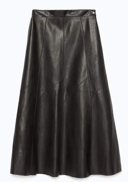 Rebajas SS 2015 fondo de armario falda midi polipiel