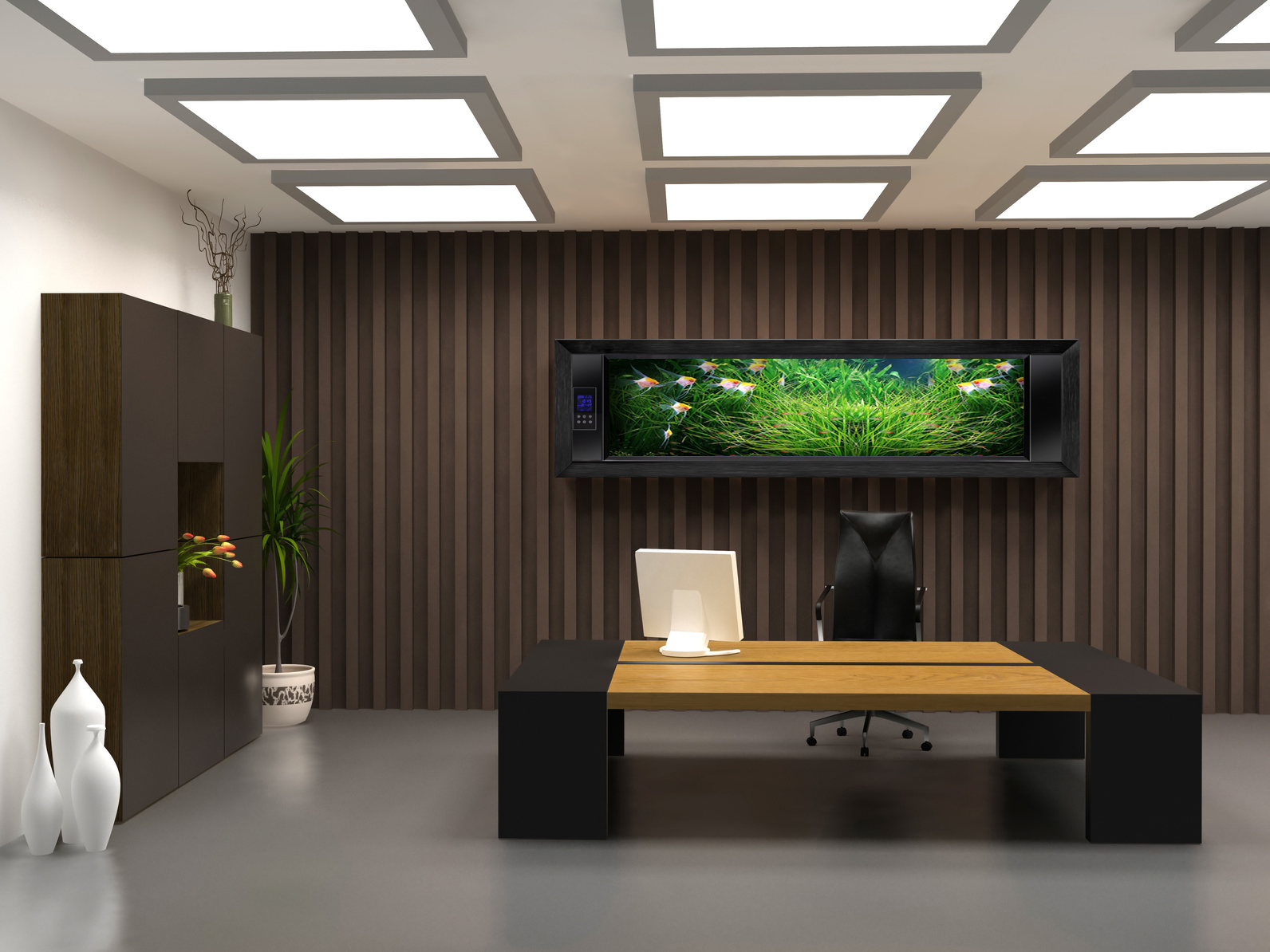 Elegant ceo office design wonderful for Office wall interior