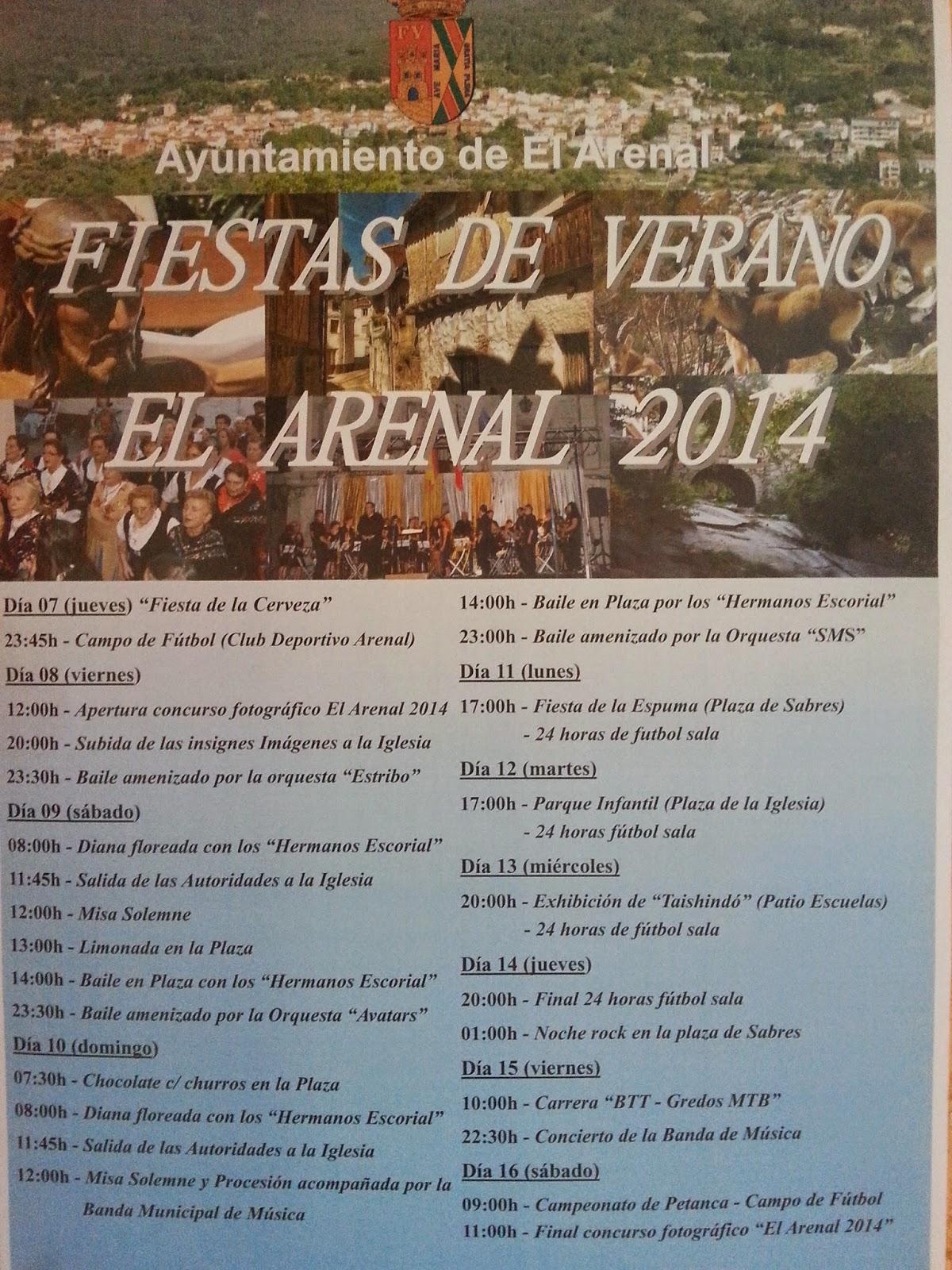 Programa de Fiestas de Verano 2014