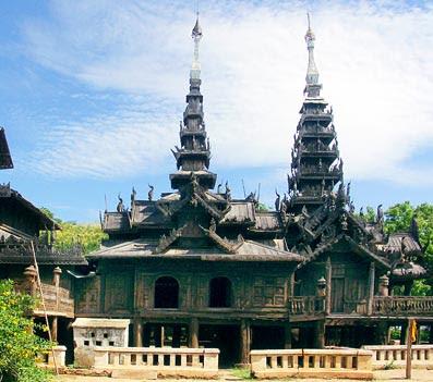 Monastery made from Teak Wood