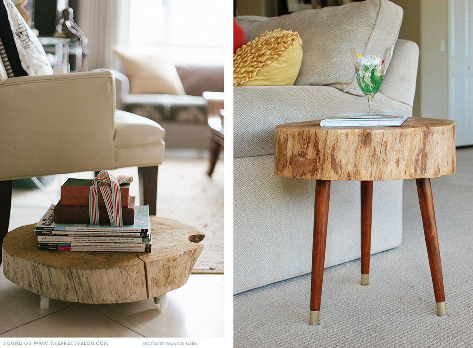 Diy table basse rondin bois - Rondin bois deco ...