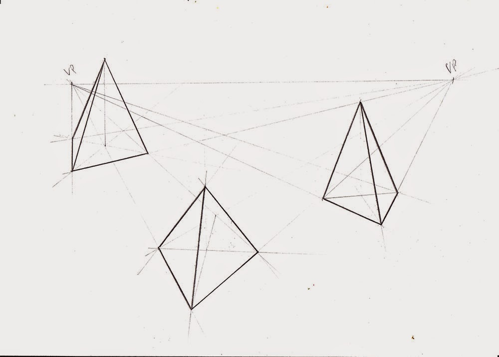Weekly : Doodles and tuts: How to draw a Pyramid in 1 ...