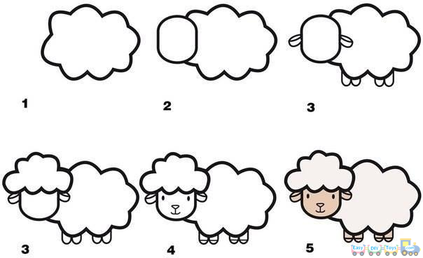 Drawing Simple Animal Sheep pics