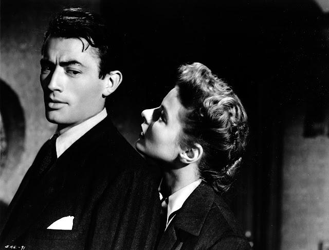 Gregory Peck e Ingrid Bergman en Recuerda