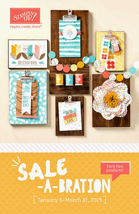 Stampin' Up! Sale-a-Bration Brochure Cover Image #StampinUp #papercrafts