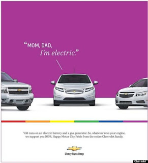 chevy gay hybrid advert purple