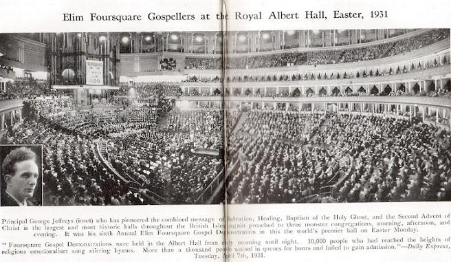 For eleven years, the Albert Hall London would be Filled with 10,000 at each of the Easter service