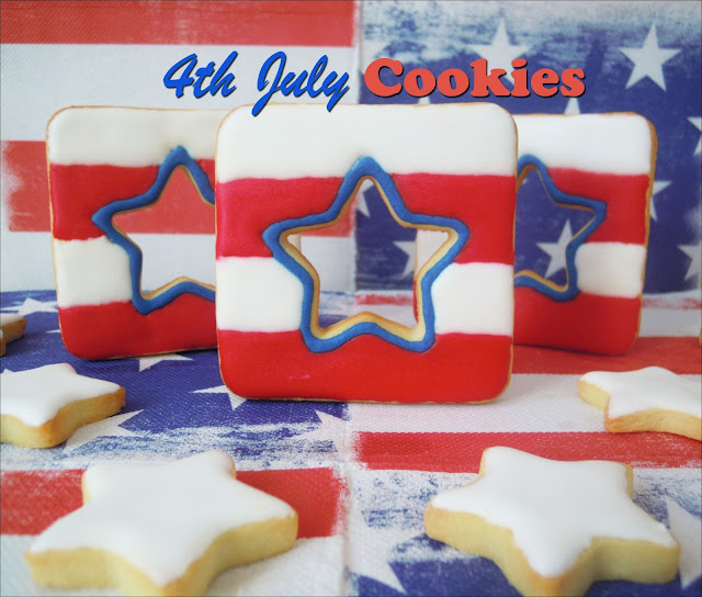 Galletas decoradas: Galletas del 4 de Julio