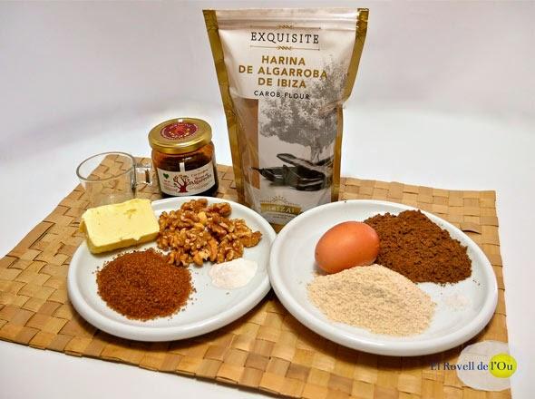 Ingrediente del Brownie de sirope de algarroba