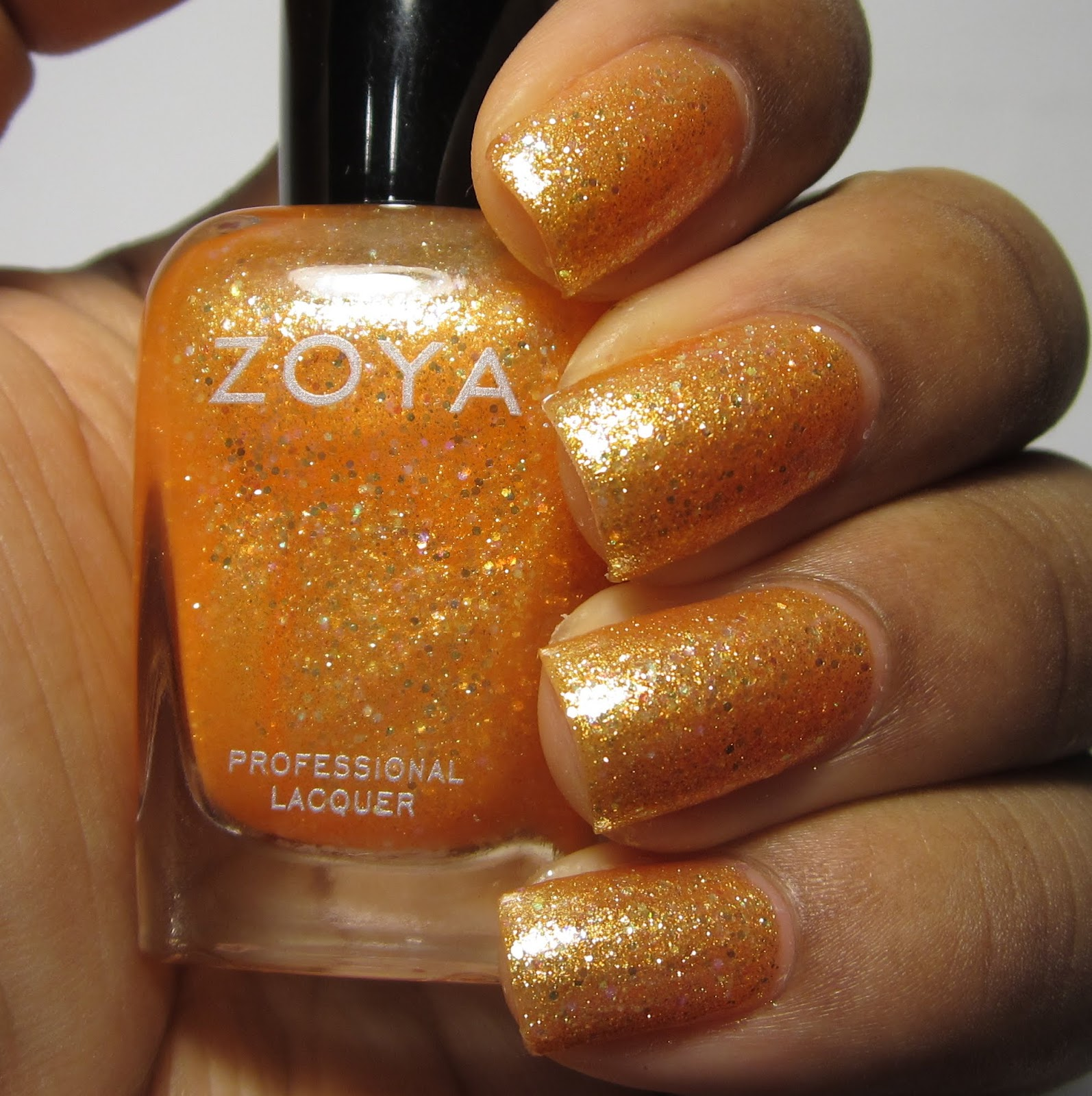 Zoya Alma Bubbly Collection orange nail polish swatch