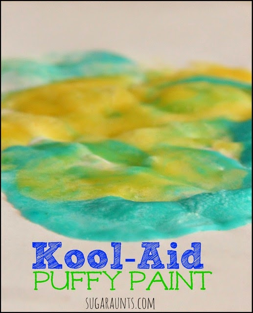 Kool-Aid puffy paint recipe