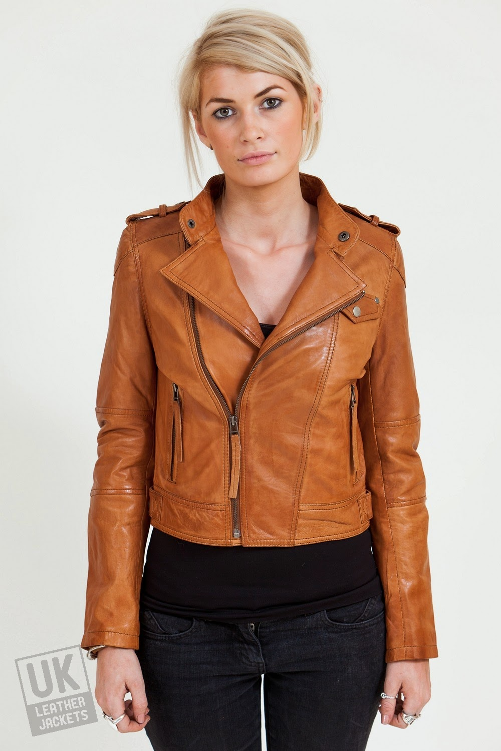 Pix For Brown Leather Jacket Women Outfit