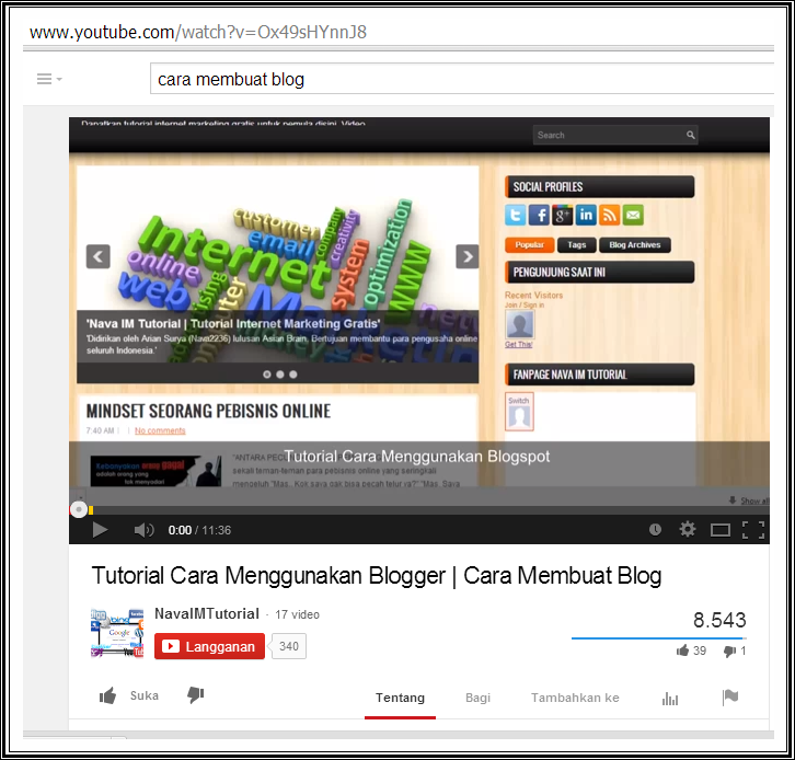 Cara Downlaod Video Di Youtube