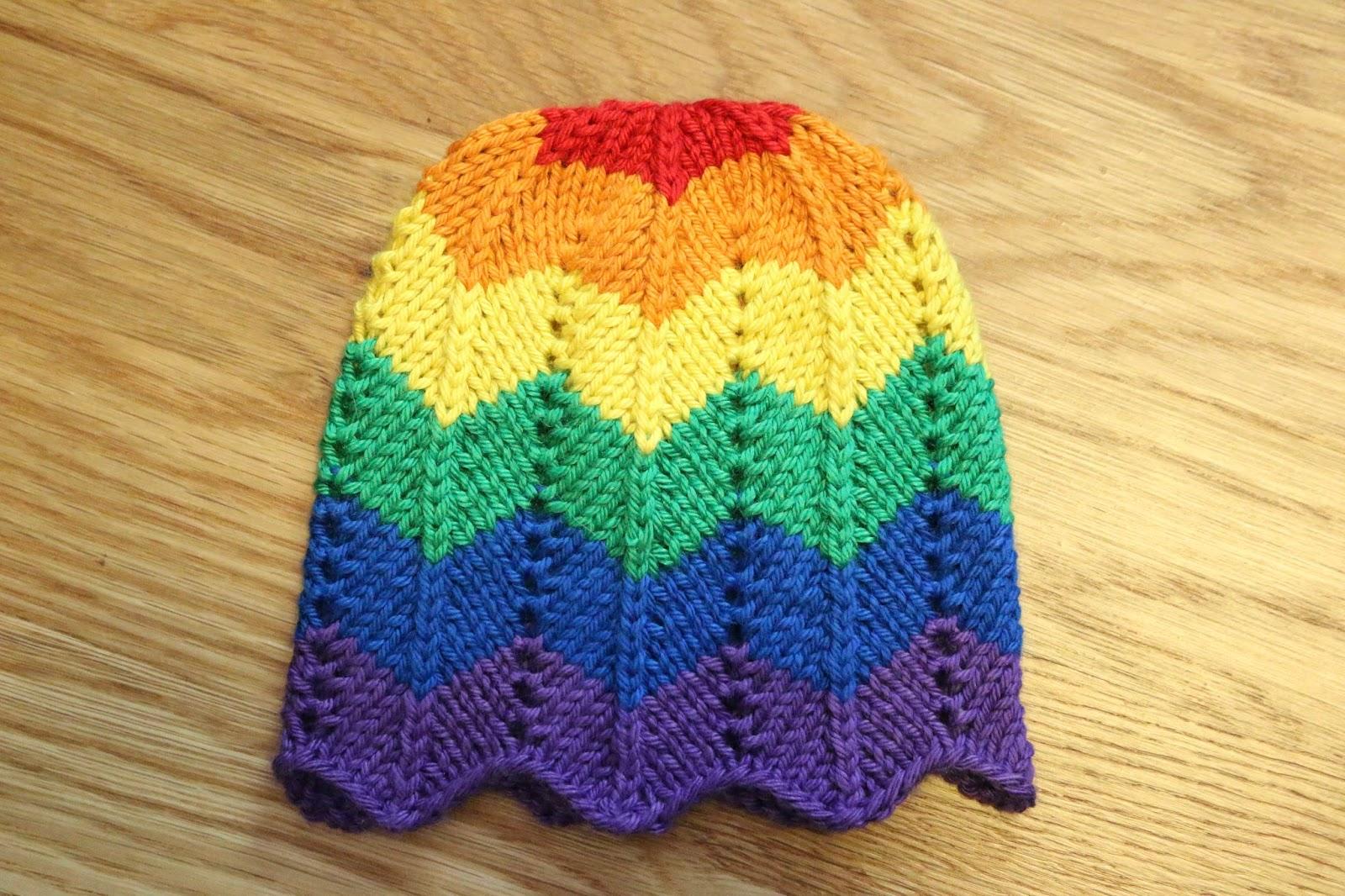 ChemKnits: Rainbow Chevron Baby Hat