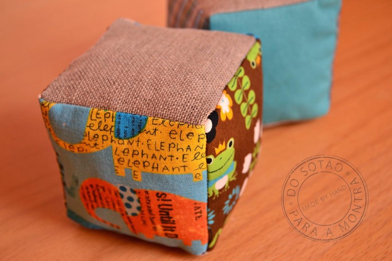 cubos de tecido
