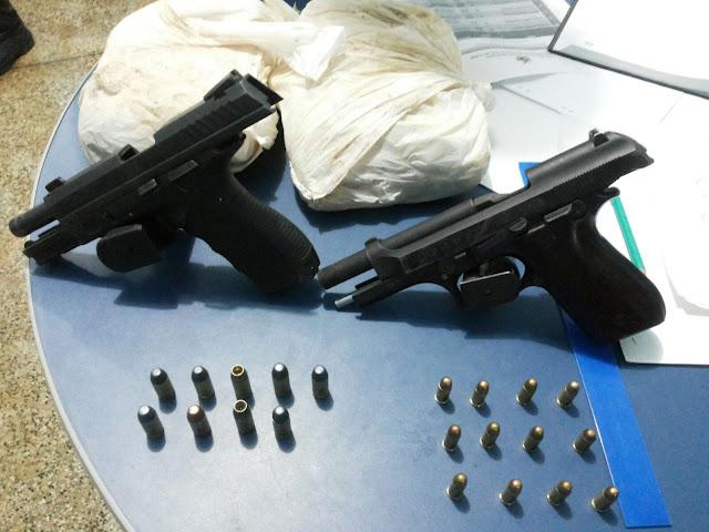 Armas,  Drogas e Suspeitos são apreendidos em Coari