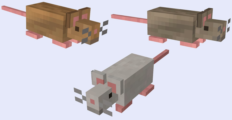 Mo' Creatures ratones Minecraft mod