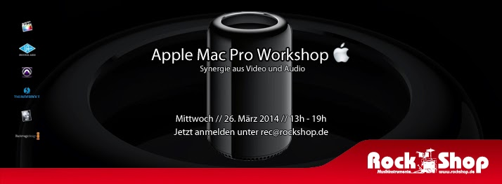 Rock Shop Musikinstrumente Karlsruhe Apple Mac Pro Workshop