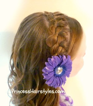braided headband picture day hair