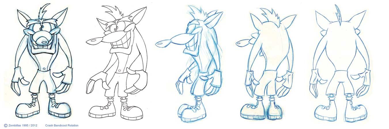 Charles Zembillas: Original Crash Bandicoot Character Rotation