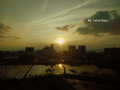 Sunset picture from Tokyo, Japan
