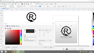 Screenshot Interface CorelDRAW X7