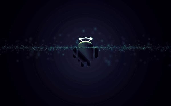 Android Dark Sparkle Wallpaper