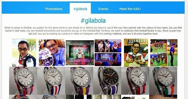 I just did a quick tag of my latest #gilabola moments from my Instagram account