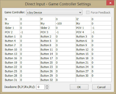 MaxAim DI: vJoyDevice Direct Input Game Controller Settings