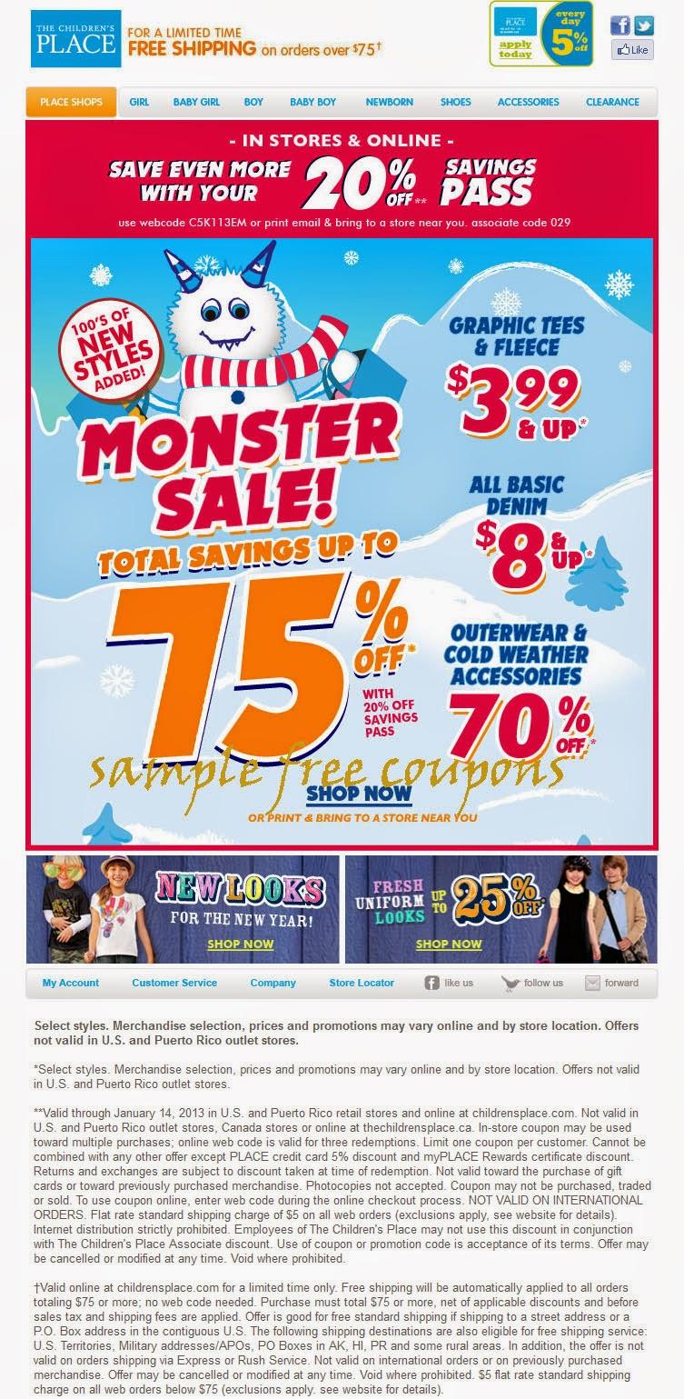 Children's coupons codes