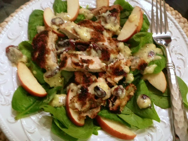 Slice of Southern: Fall Salad: Crispy Chicken, Apple, and ...