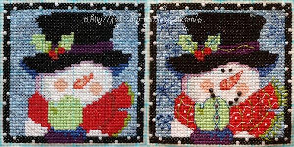 """Вышивка фирмы """"Dimensions""""- """"Christmas Pals Ornaments""""/""""Рождественские друзья"""" - Снеговик"""