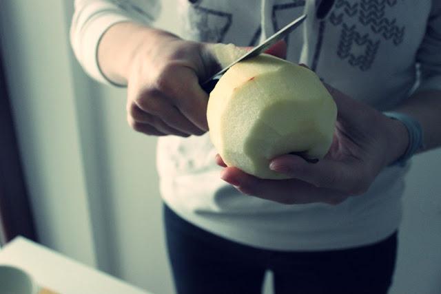 Placuszki z jabłkiem.