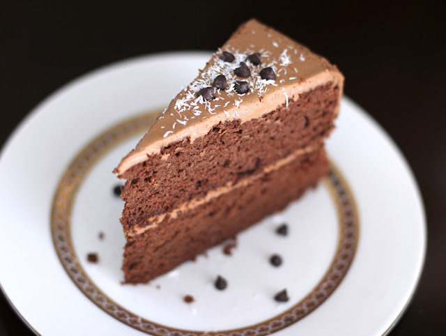 Healthy Decadent Chocolate Layer Cake with Chocolate Frosting
