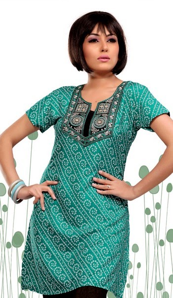 Crape Kurtis for summer 2014