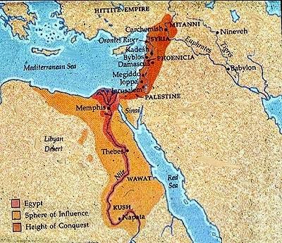 خريطة للمملكة المصرية القديمة وحدودها